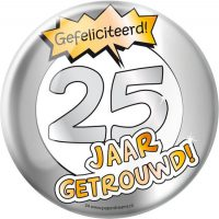 Button XXL 25 jaar
