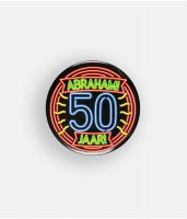 Button Neon – 50 Abraham