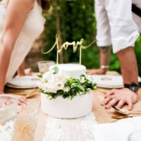 PartyDeco Cake Topper Love – Goud